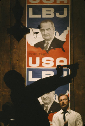 LBJ for the USA' poster, New York, 1965.