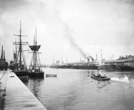 North Wall docks, Dublin, about 1906