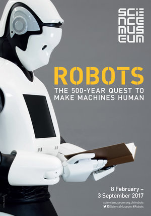 Robots exhibition poster for the Science Museum London, 2017