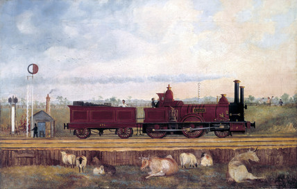 'Dane' London & South Western Railway locomotive no 126, c 1850s.