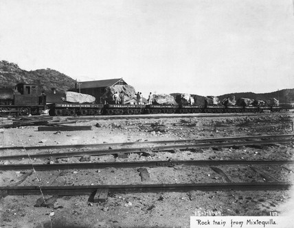 Rock train from Mixtequilla quarry, Mexico, 15 January 1904.