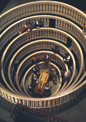 The anatomical theatre of Fabricius in Padua, Italy, 1594.