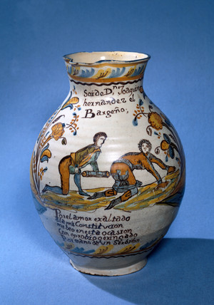 Spanish jug, posibly 17th century.