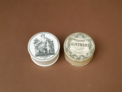 Two dispensing pots, English, 1867-1882.