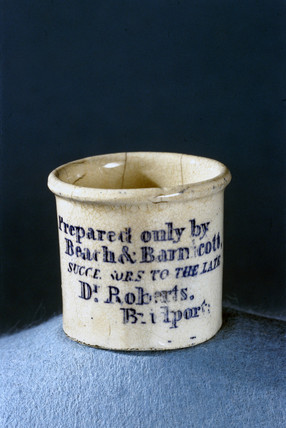 Dispensing pot, English, 1860-1885.