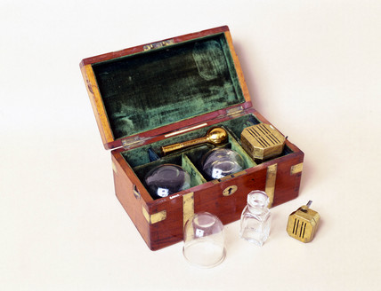 Cupping set, 1878.