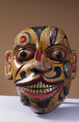 Painted face mask, Sinhalese from Sri Lanka, 1771-1900.