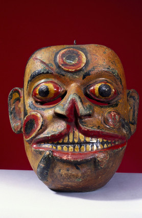 Painted face mask, Sinhalese from Sri Lanka, 1771-1860.