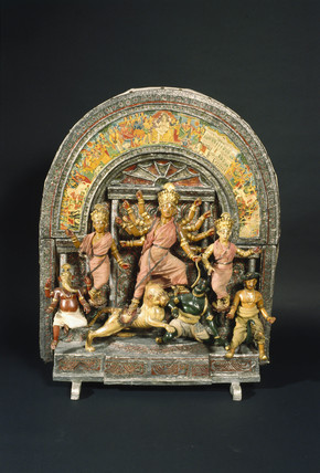 Hindu shrine, probably Bengali, 19th century.