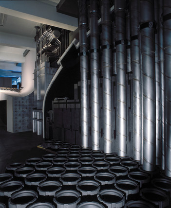 Interior of an Advanced Gas-cooled Reactor (AGR), 1980s.