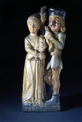St Radegrend being bullied, probably French, 19th century.