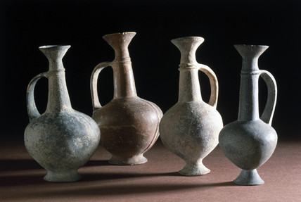 Bronze Age 'base ring' juglets, Cyprus, 14th century BC.