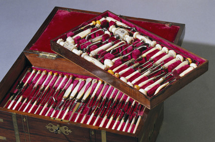 Chest of dental instruments, c 1840-1870.