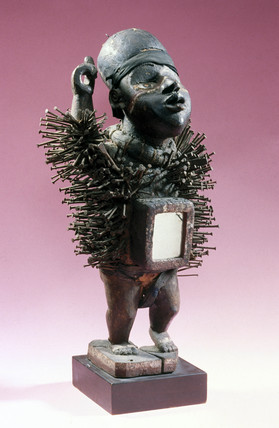 A male fetish figure from the Congo, central Africa, c 1880-1920.