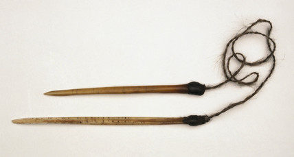 Pair of pointing bones, Central Australia, c 1870-1920.