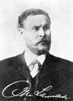 Otto Lilienthal, German aviation engineer and designer, c 1890s.
