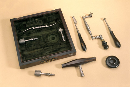 Veterinary instruments.