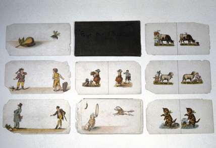 Set of cards for use with a Cruise stereoscope.