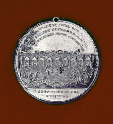 Medal commemorating the opening of the LMR, 1830.