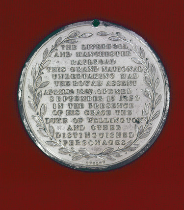 Medallion commemorating the opening of the LMR, c 1830.