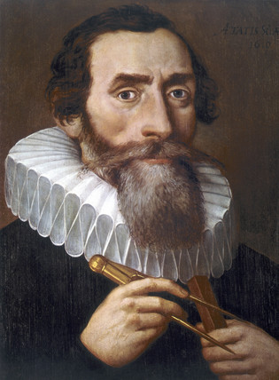 Johannes Kepler, German astronomer and physicist, 1610.