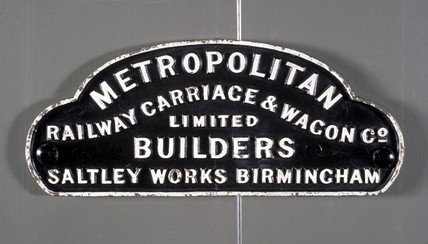 Wagon solebar plate, 'Metropolitan Railway Co Ltd.