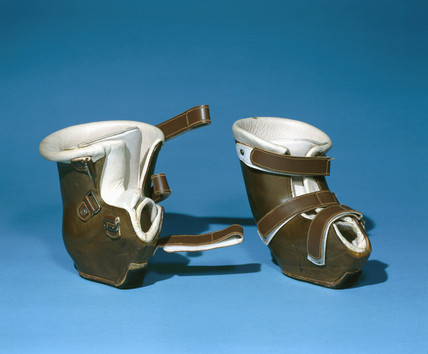 Child's orthopaedic boots, 1979-81.
