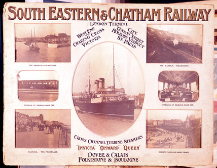 South Eastern & Chatham Railway poster, early 20th century.