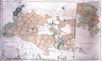 Plan of Matthew Baillie's estate at Duntisbourne, Gloucestershire, 1790-1823.