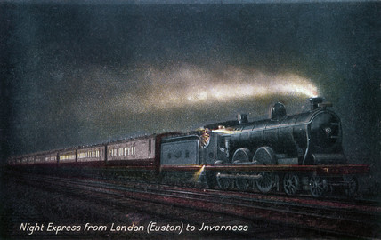 'Night Expres from London (Euston) to Invernes, c 1903.