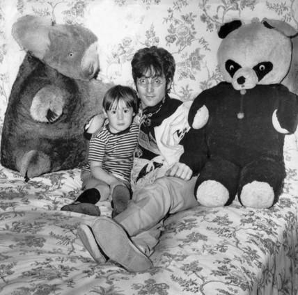 Beatle John Lennon And His Son Julian 11 February 1968