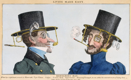'Living made easy - Revolving Hat', 1830.