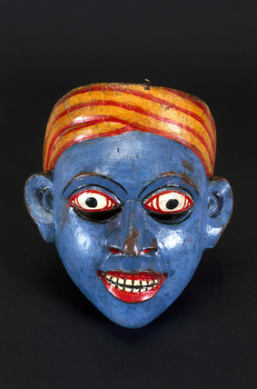 Painted Sinhalese face mask, Sri Lanka, 1771-1910.