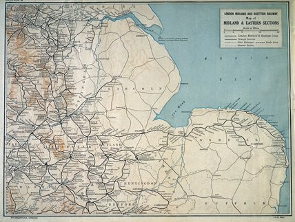 Map Of The London Midland Amp Scottish Railway C 1930 At