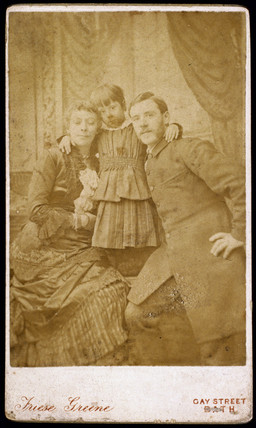 William Friese-Greene, cinematographer, and family, c 1880.