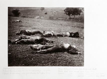 Union dead where General Reynolds fell, Gettysburg, Pennsylvania, July 1863.