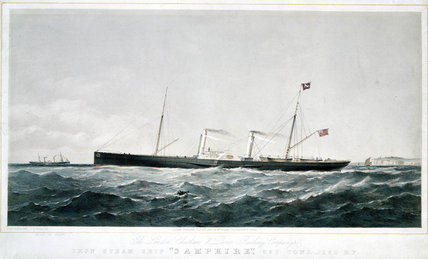 'Iron Steam Ship 'Samphire'', 1863.