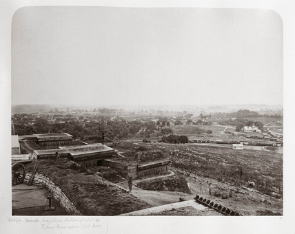 Fort Negley, Tennesee, view towards the battlefield of 30th November 1864.