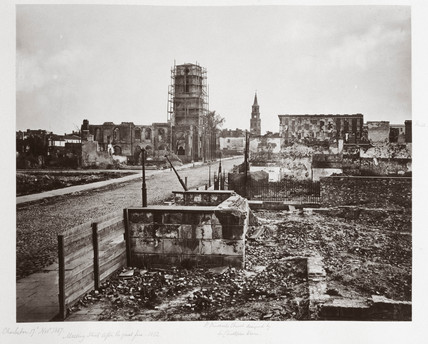 Meeting Street, Charleston, S Carolina, after the great fire of 1861, (1861-1867).