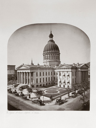 The Capitol Building, St Louis, Misouri, USA, c 1865.