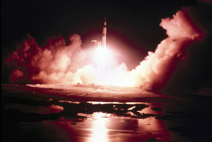 Launch of the Apollo 17 mission, 1972.