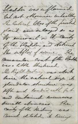 Post-mortem report for mathematician Charles Babbage , 1871.
