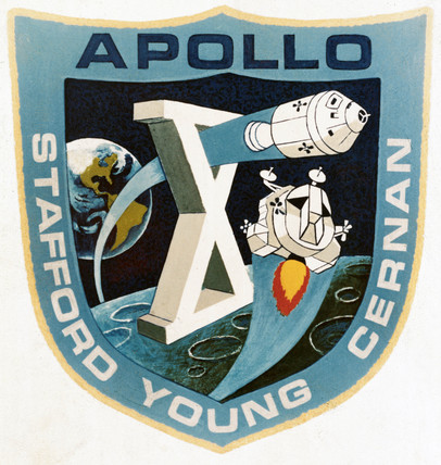 The official Apollo 10 emblem, 1969. Apoll
