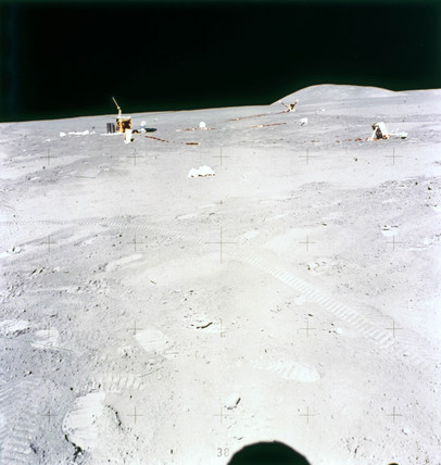 Apollo 15 experiments on the Moon, 1971.