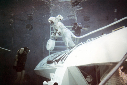 Apollo 16 astronaut training, 1971.