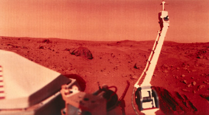 Viking 1 on Mars, 1976.