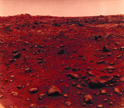 View of the Martian surface taken by Viking 1, 1976.