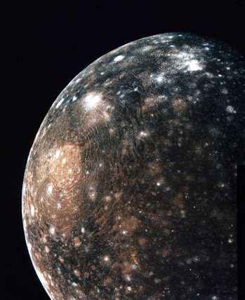 Callisto, one of Jupiter's moons, 1979.