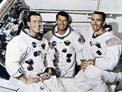 Astronauts of Apollo 7, 1968.