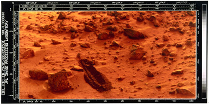 Close-up of the Martian surface from a Viking Lander, 1976.